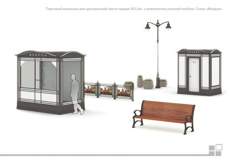 Киоск будущего: типовой проект торговой палатки в Москве