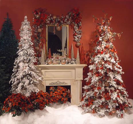 Камин, елка, интерьер, Новый год