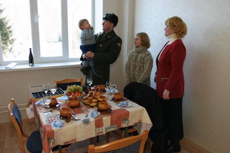 Ввод в эксплуатацию служебного жилья для семей военнослужащих