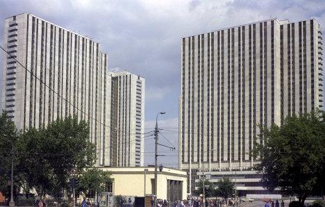 Вид на гостиничный комплекс Измайлово