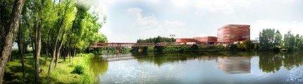 МИСИС Студенческий центр, библиотека и мост