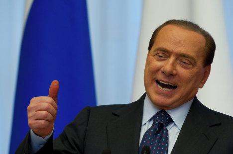 Премьер-министр Италии С.Берлускони на пресс-конференции в Сочи