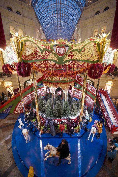 Главный универсальный магазин (ГУМ) перед Новым годом