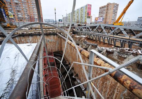 Строительство станции московского метро Новокосино