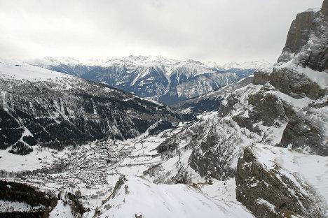Горнолыжный курорт в Швейцарских Альпах