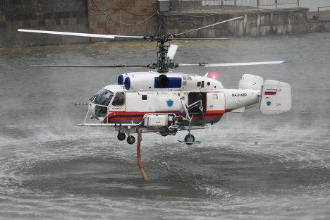 Пожарно-тактические учения МЧС на территории моста Багратион