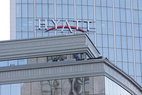 Открытие пятизвездочного гостиничного комплекса Hyatt Regency Ekaterinburg - первого объекта к саммиту ШОС в Екатеринбурге