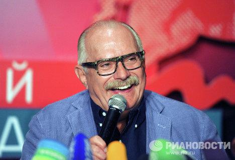 Пресс-конференция Никиты Михалкова в рамках 34 ММКФ