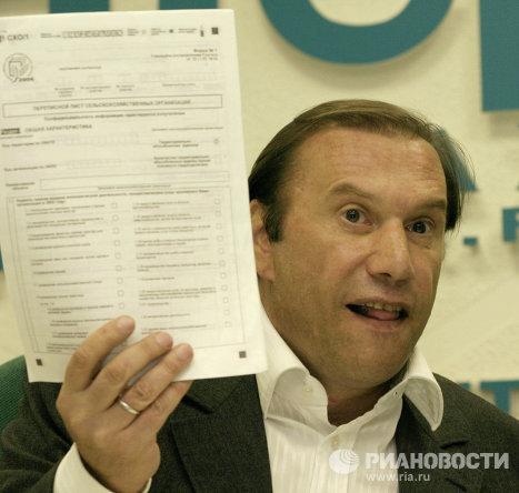 Виктор Батурин на пресс-конфереции