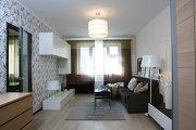 Дизайн квартиры в новостройке, полы светлых оттенков