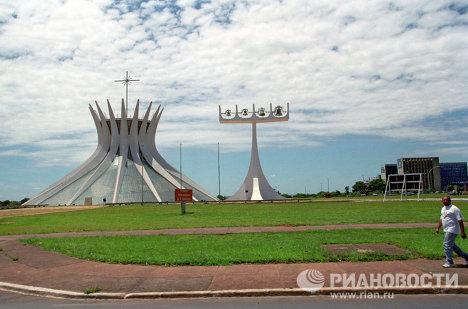 Кафедральный собор и звонница архитектор - Оскар Нимейер