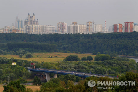 Вид на Крылатский мост