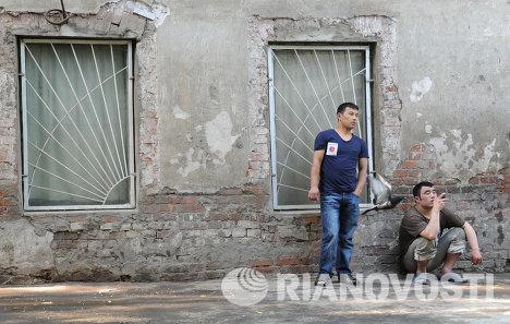 Москва, мигранты