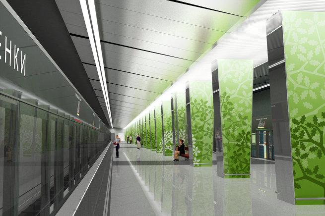 Проект станции метро «Раменки»