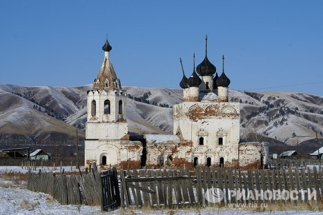 Церковь Успения Пресвятой Богородицы в селе Калинино Забайкальского края