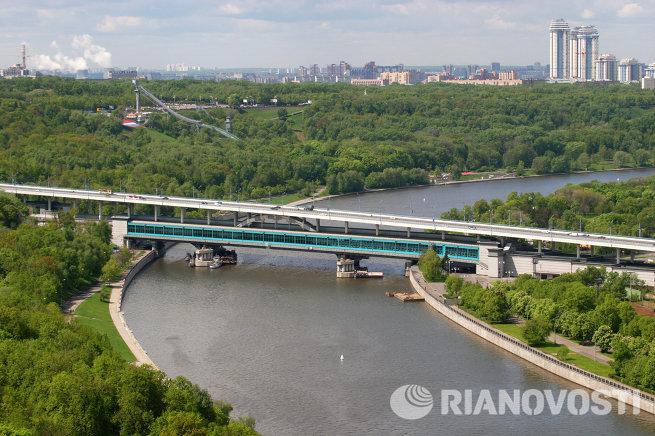 Вид на Москву с верхней точки. Воробьевы горы