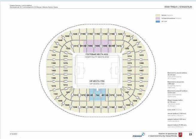Проект реконструкции стадиона Лужники в Москве