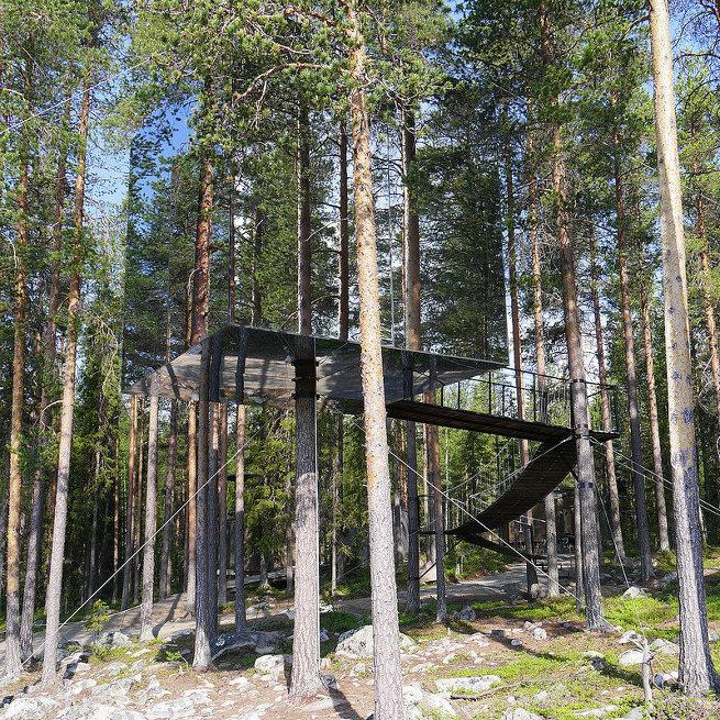 Номер отеля Treehote на севере Швеции