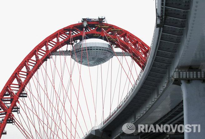 Самый высокий вантовый мост в Европе откроется в Москве