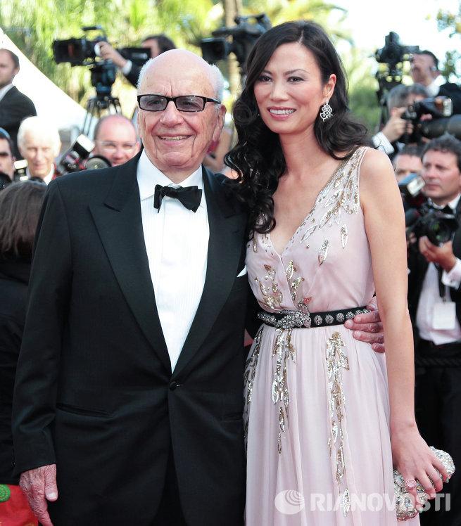 Руперт Мердок с супругой Венди Денг