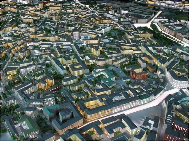 Архитектурный макет Москвы