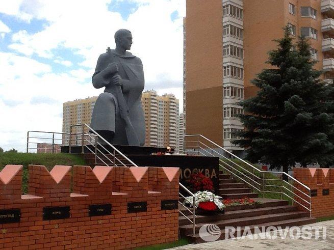 Памятник в районе Молжаниново