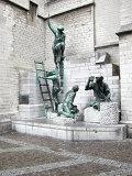 Памятник строителям собора в Антверпене