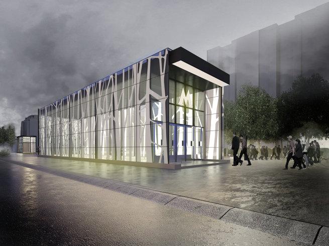 Дизайн вестибюля метро Новопеределкино