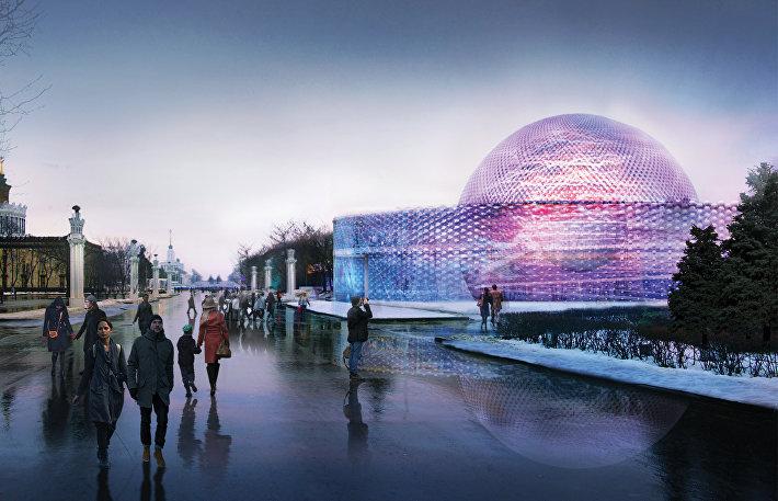 Концепция павильон Росатома на ВДНХ в Москве от IND Architects, FR-EE (Россия, США).