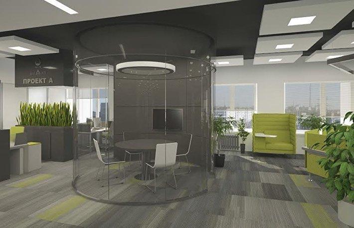 Проект офисного пространства АО НИАЭП от архитектора Дмитрия Емельянова