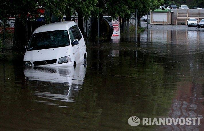 Последствия тайфуна Гони во Владивостоке