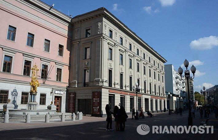 Здание с открывшейся новой сценой Театра имени Евгения Вахтангова