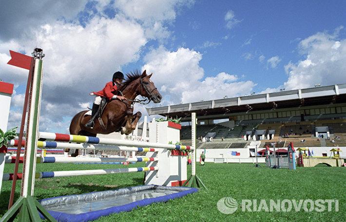 Российский детский турнир по конкуру в Москве