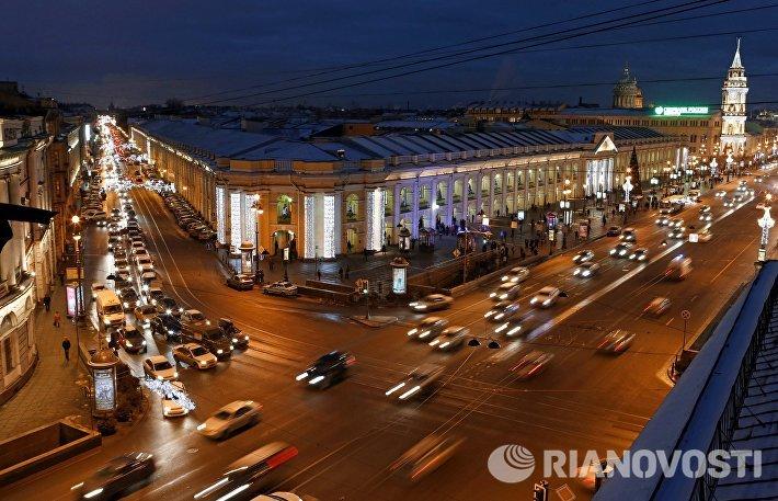 Предновогодний вечерний Санкт-Петербург
