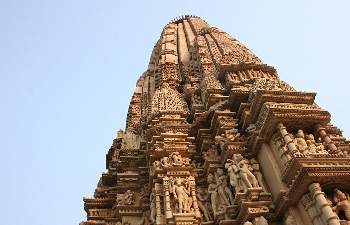 Один из храмов Каджурахо