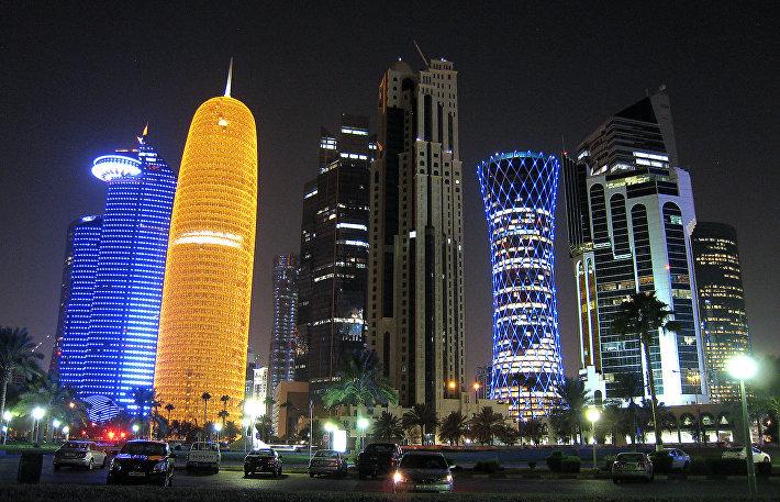 Доха (ночная панорама)