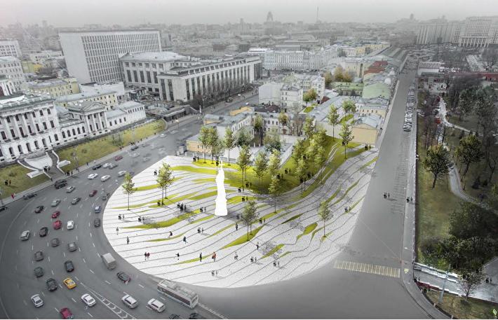Круги на воде: какой увидели архитекторы Боровицкую площадь в Москве