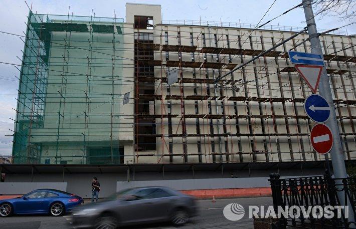 Снос Таганской АТС на Покровском бульваре в Москве
