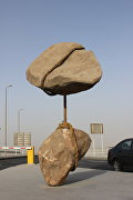 Летающий камень в международном аэропорту Каира