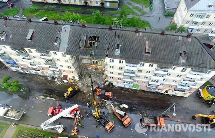 Спасатели завершили аварийно-спасательные работы на месте обрушения в Междуреченске