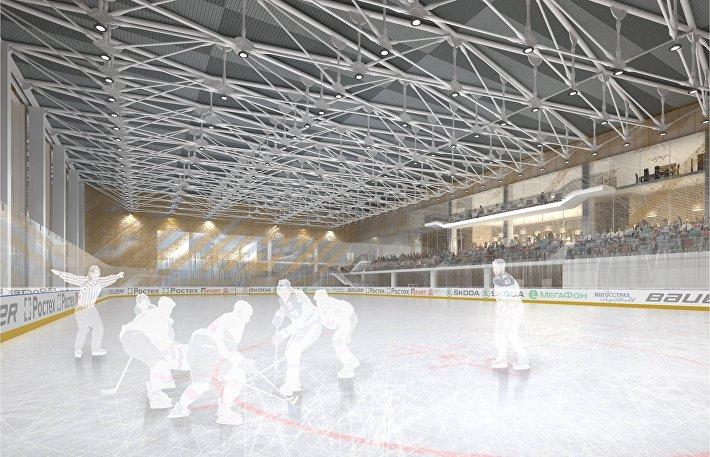 Каким будет ледовый дворец Кристалл в Лужниках