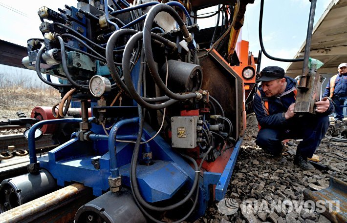 Летняя ремонтно-путевая кампания на железной дороге