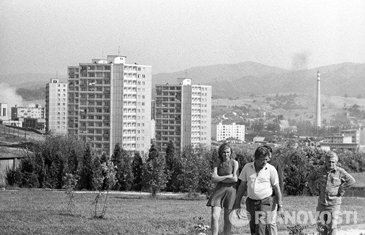 Вид на жилые районы города Зволена