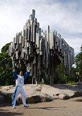 Памятник Сибелиусу в Хельсинки сделан из труб
