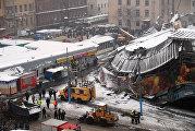 Обрушение крыши на Басманном рынке