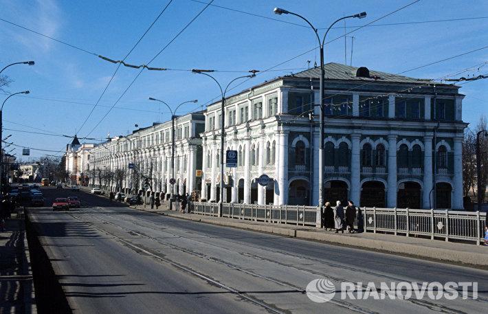 Торговые ряды в центре города Орла