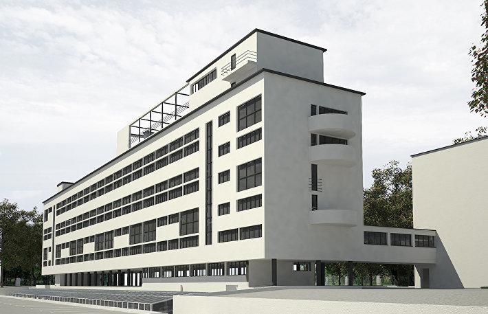 Проект реставрации Дома Наркомфина на Новинском бульваре 25