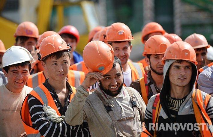 Рабочие на строительной площадке