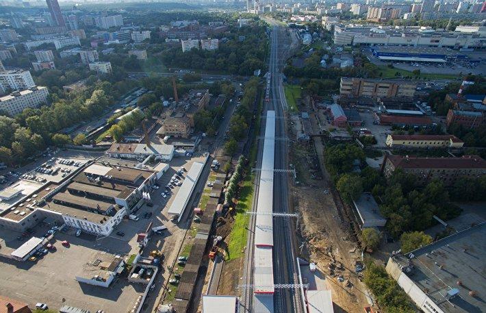 Московское центральное кольцо с высоты птичьего полета
