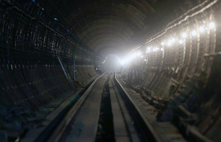 Перегонный туннель строящейся станции